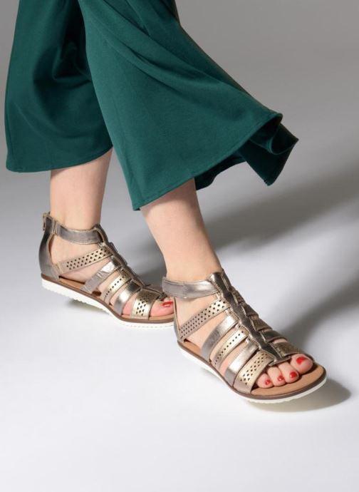 Sandales et nu-pieds Clarks Kele lotus Or et bronze vue bas / vue portée sac