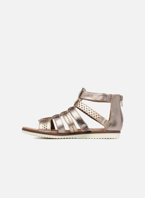 Sandales et nu-pieds Clarks Kele lotus Or et bronze vue face