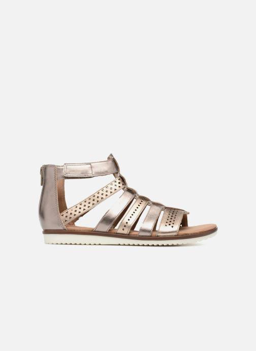 Sandales et nu-pieds Clarks Kele lotus Or et bronze vue derrière