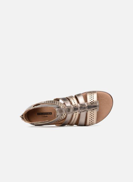 Sandales et nu-pieds Clarks Kele lotus Or et bronze vue gauche