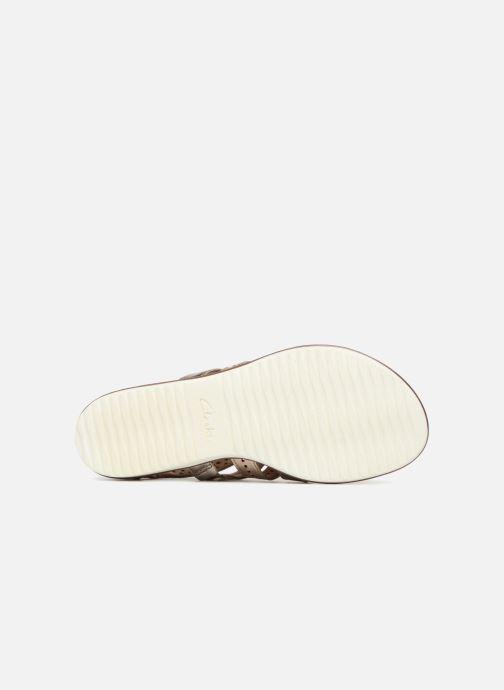 Sandales et nu-pieds Clarks Kele lotus Or et bronze vue haut