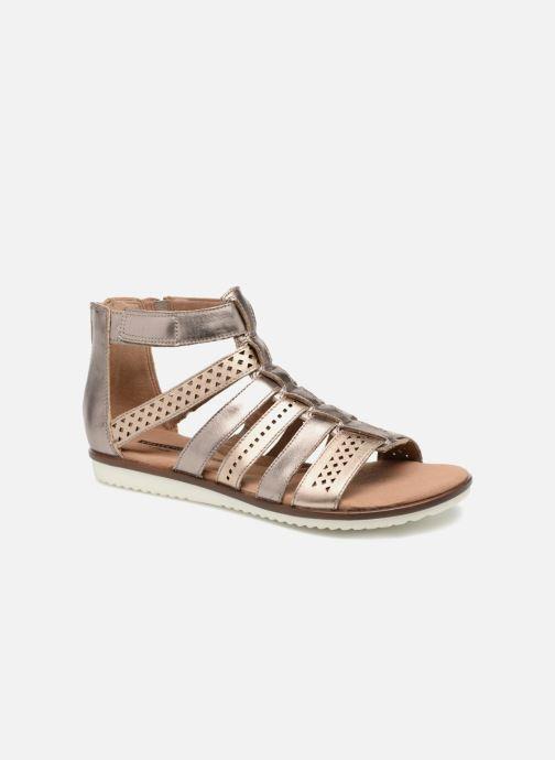 Sandaler Clarks Kele lotus Guld og bronze detaljeret billede af skoene