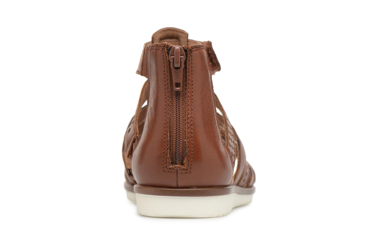 Sandals Clarks Kele lotus Brown view from the right