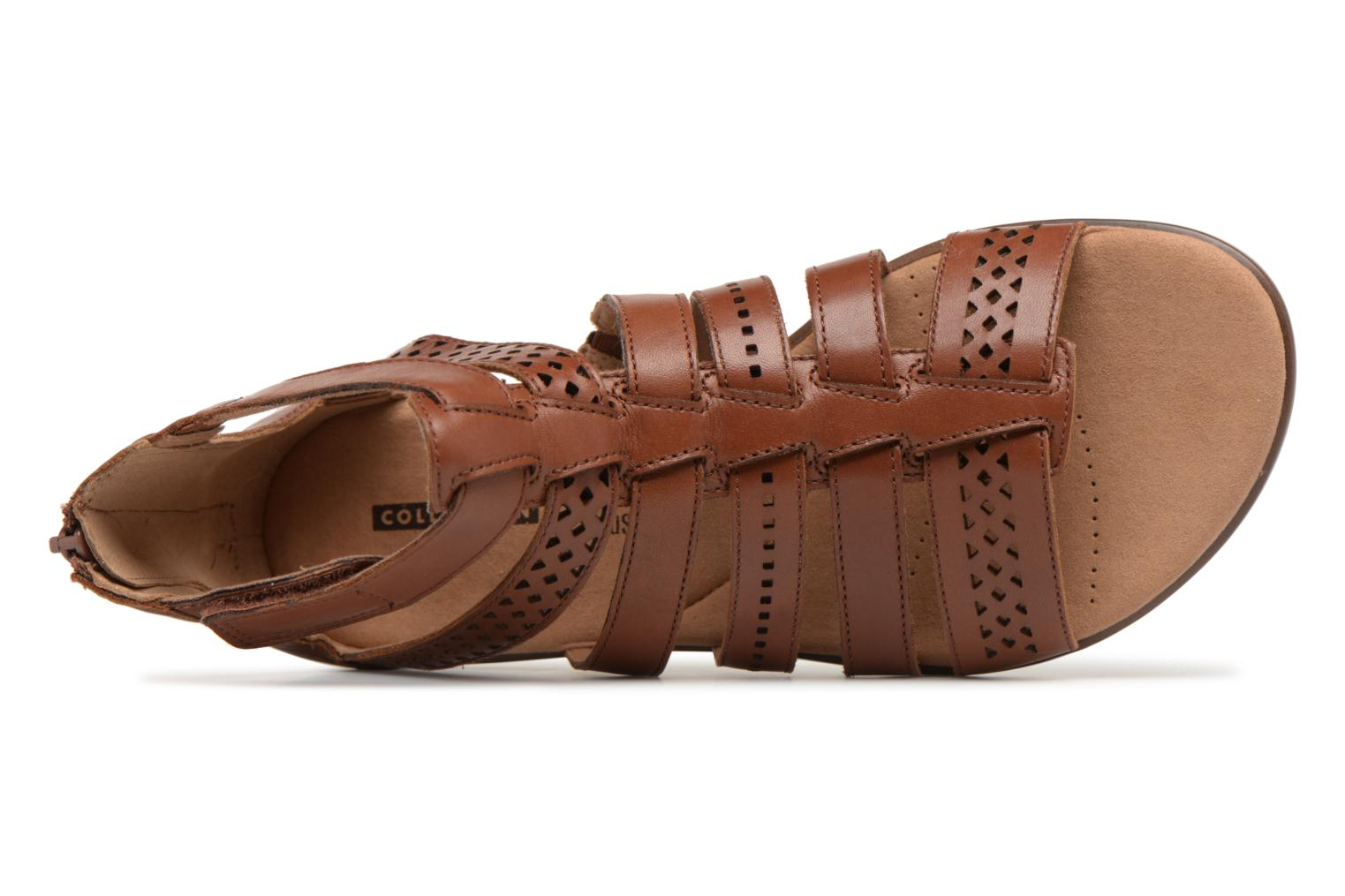 Sandals Clarks Kele lotus Brown view from the left