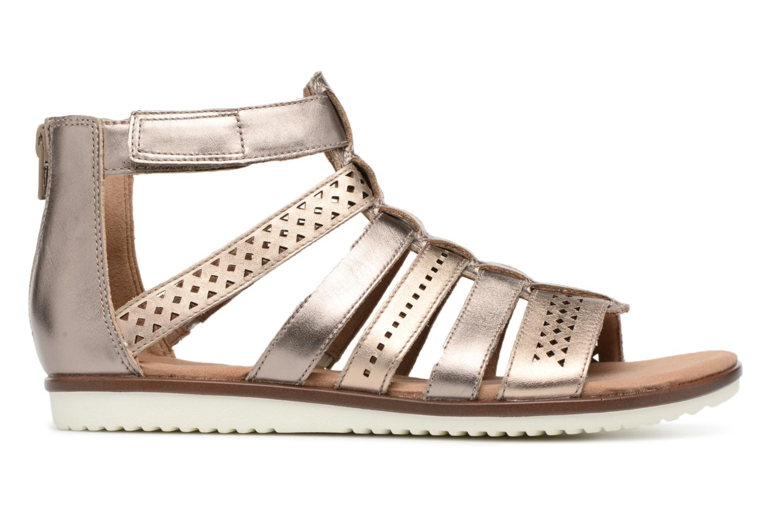 Sandals Clarks Kele lotus Bronze and Gold back view