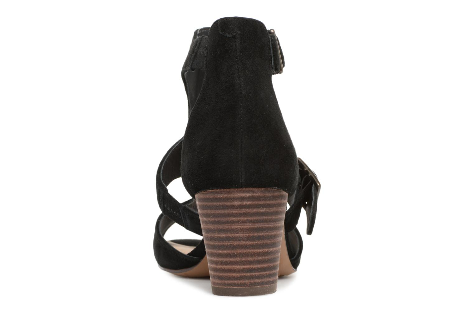Sandals Clarks Deloria Kay Black view from the right