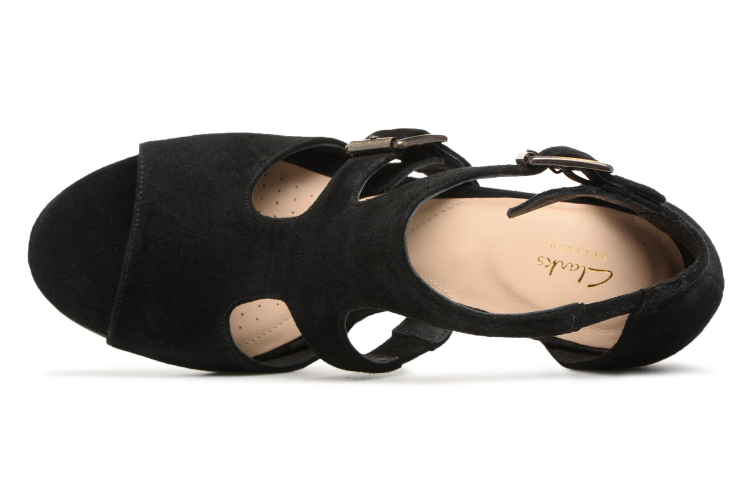 Sandals Clarks Deloria Kay Black view from the left