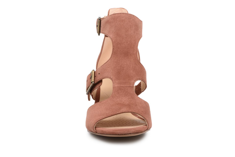 Sandals Clarks Deloria Kay Pink model view