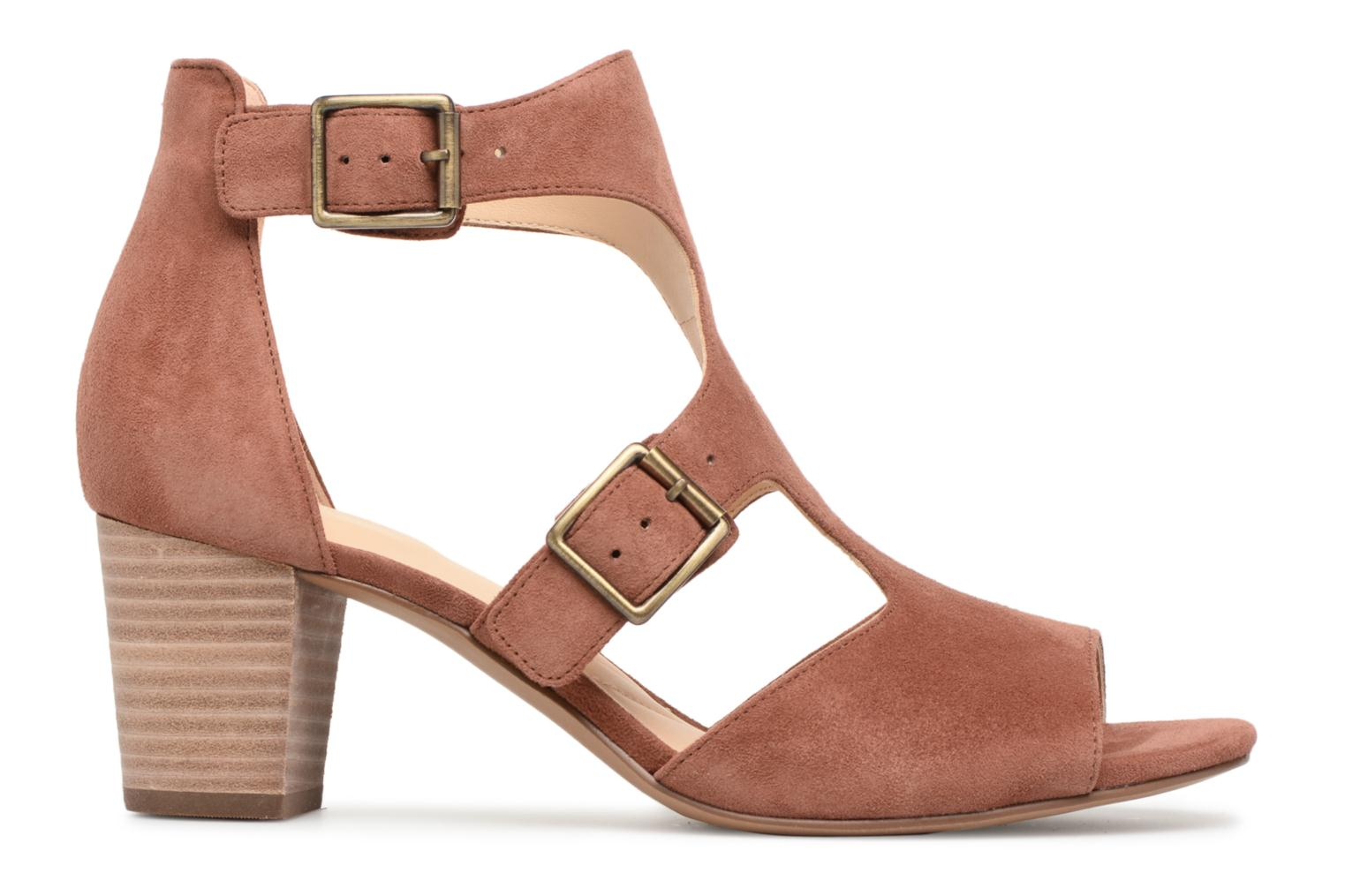 Sandals Clarks Deloria Kay Pink back view