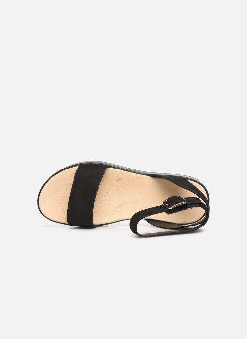 Sandales et nu-pieds Clarks Botanic Ivy Noir vue gauche