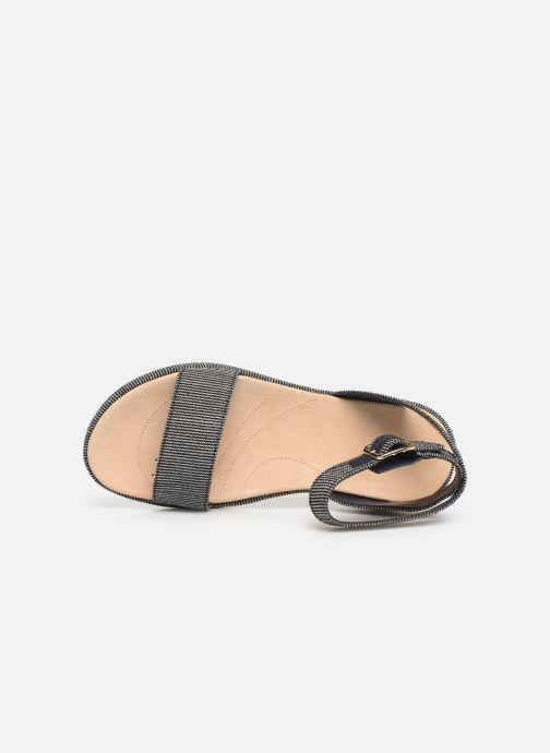 Sandales et nu-pieds Clarks Botanic Ivy Bleu vue gauche
