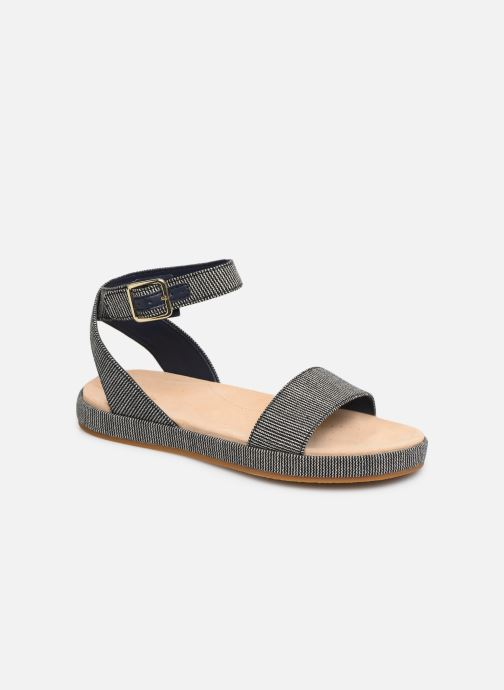 Sandals Clarks Botanic Ivy Blue detailed view/ Pair view