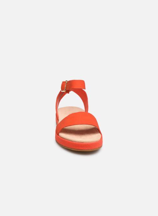 Sandales et nu-pieds Clarks Botanic Ivy Orange vue portées chaussures