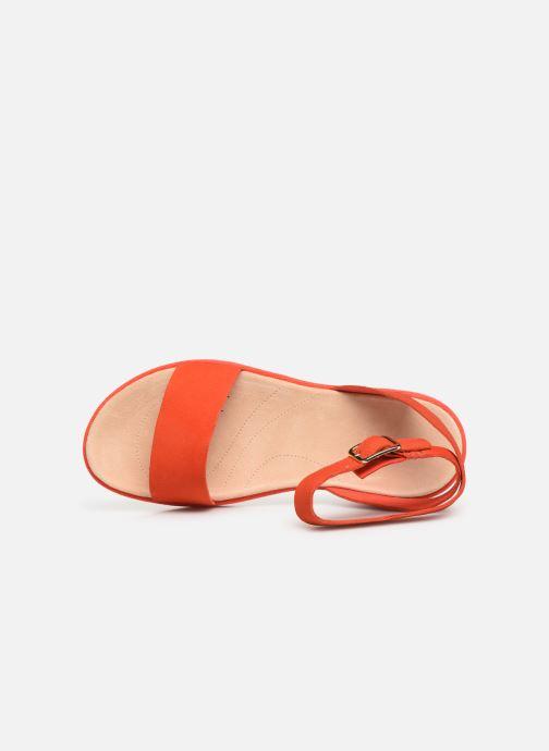Sandales et nu-pieds Clarks Botanic Ivy Orange vue gauche