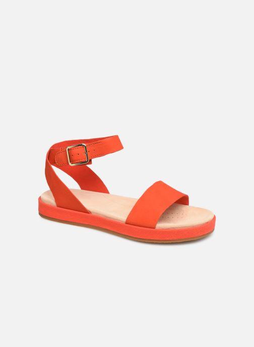 Sandales et nu-pieds Clarks Botanic Ivy Orange vue détail/paire