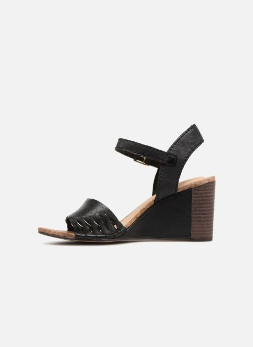 Sandali e scarpe aperte Clarks Spiced Poppy Nero immagine frontale