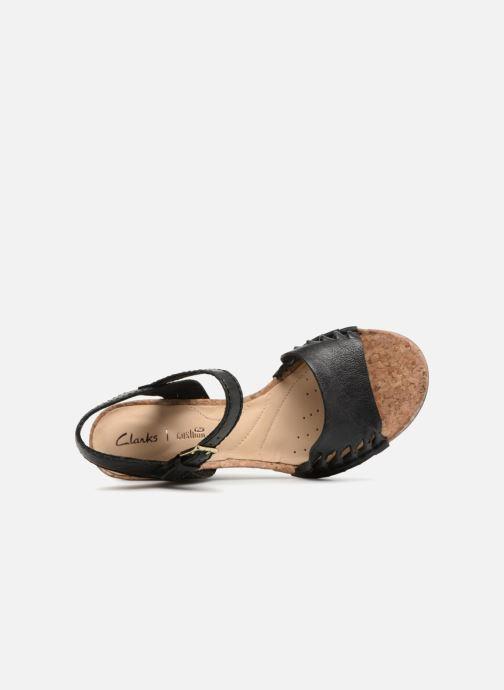 Sandali e scarpe aperte Clarks Spiced Poppy Nero immagine sinistra