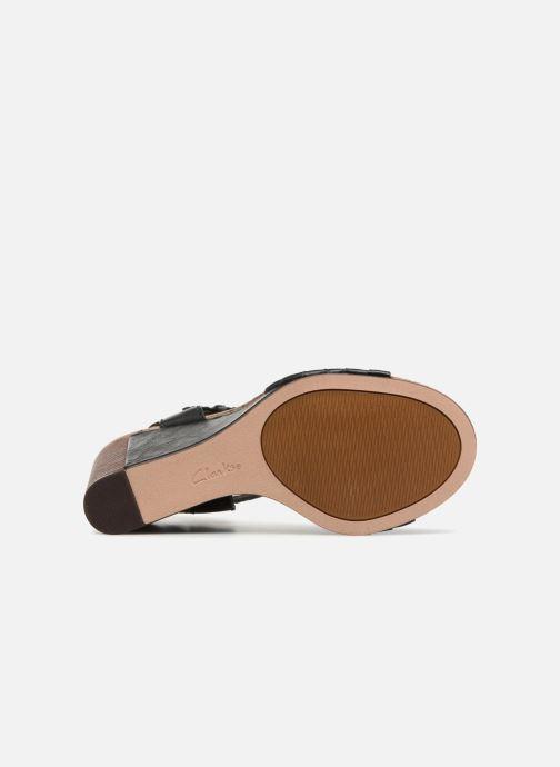 Sandali e scarpe aperte Clarks Spiced Poppy Nero immagine dall'alto