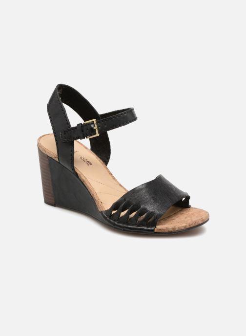 Sandales et nu-pieds Clarks Spiced Poppy Noir vue détail/paire