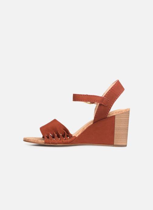Sandales et nu-pieds Clarks Spiced Poppy Rouge vue face