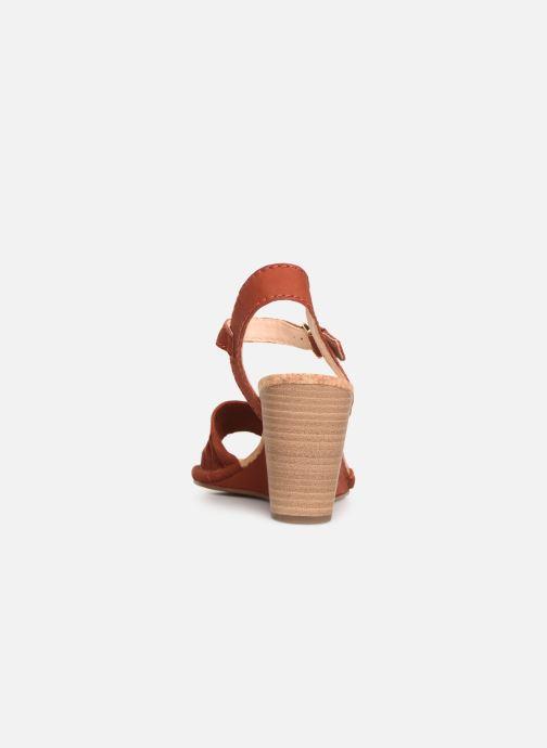 Sandales et nu-pieds Clarks Spiced Poppy Rouge vue droite