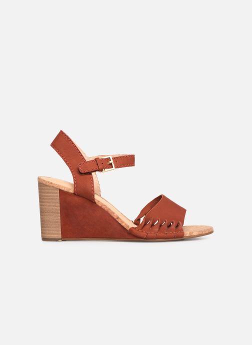 Sandales et nu-pieds Clarks Spiced Poppy Rouge vue derrière