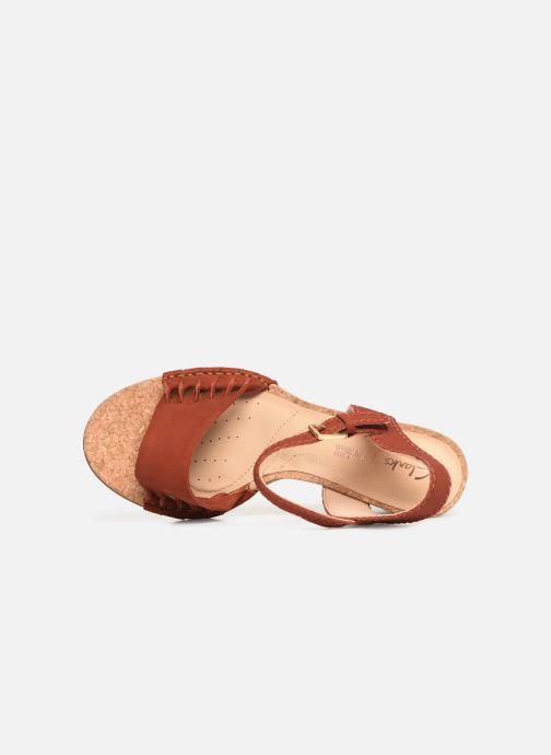Sandales et nu-pieds Clarks Spiced Poppy Rouge vue gauche