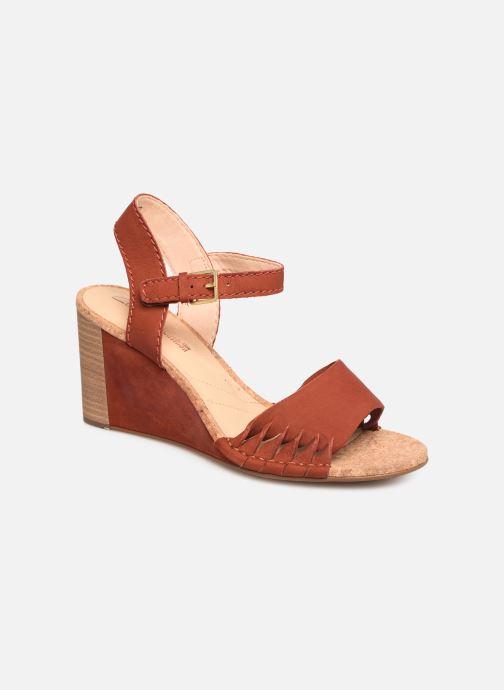 Sandales et nu-pieds Clarks Spiced Poppy Rouge vue détail/paire