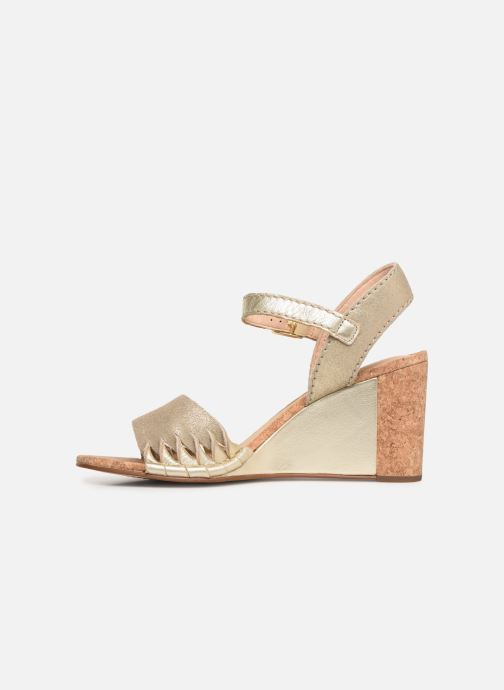Sandales et nu-pieds Clarks Spiced Poppy Or et bronze vue face