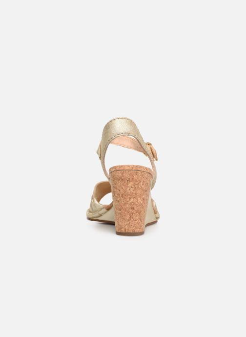 Sandales et nu-pieds Clarks Spiced Poppy Or et bronze vue droite