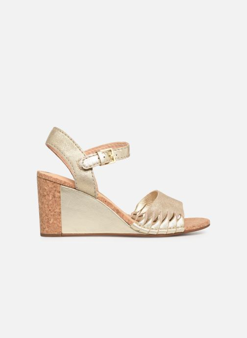 Sandales et nu-pieds Clarks Spiced Poppy Or et bronze vue derrière