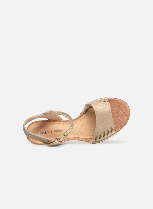 Sandales et nu-pieds Clarks Spiced Poppy Or et bronze vue gauche