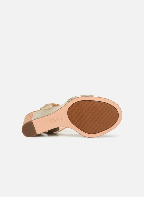 Sandales et nu-pieds Clarks Spiced Poppy Or et bronze vue haut