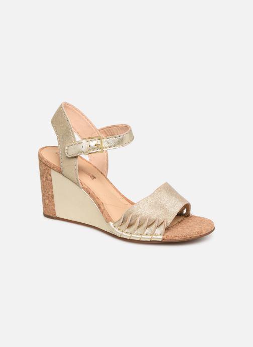 Sandales et nu-pieds Clarks Spiced Poppy Or et bronze vue détail/paire