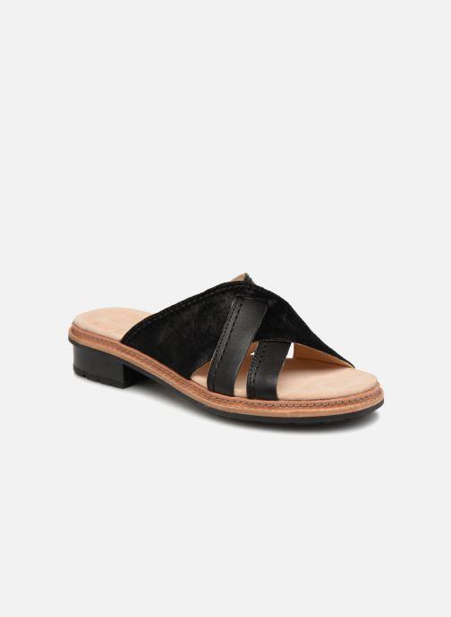 73f88246e19b5 ... Chaussure femme · Clarks femme  Trace Craft. Mules et sabots Clarks  Trace Craft Noir vue détail paire