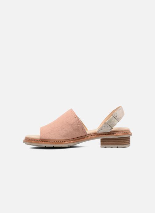 Sandaler Clarks Trace Stitch Pink se forfra