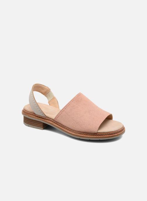Sandaler Clarks Trace Stitch Pink detaljeret billede af skoene