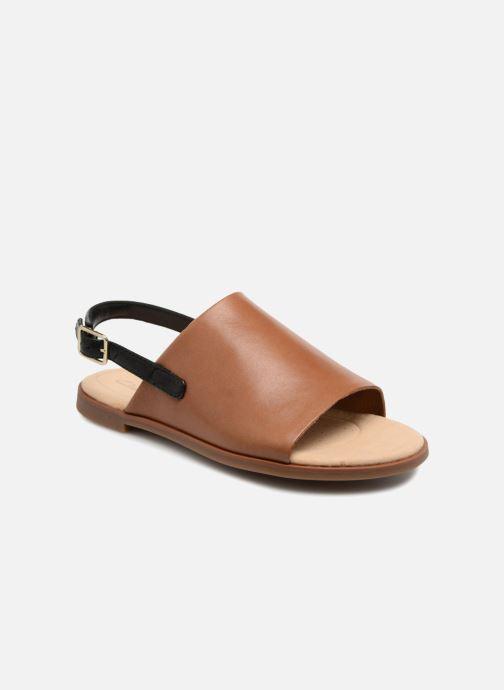 Sandaler Clarks Bay Jasmine Brun detaljeret billede af skoene