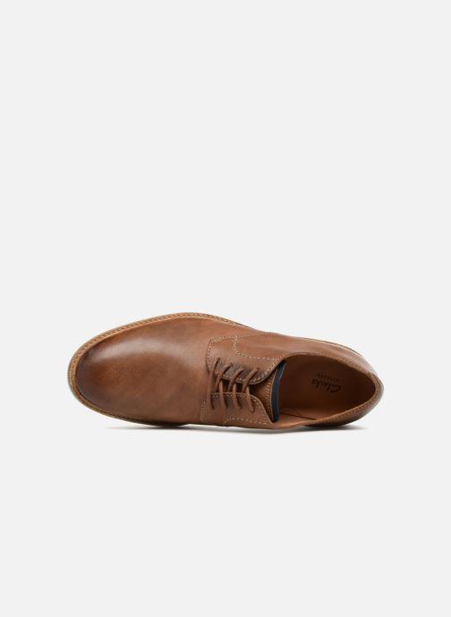 Chaussures à lacets Clarks Atticus Lace Marron vue gauche