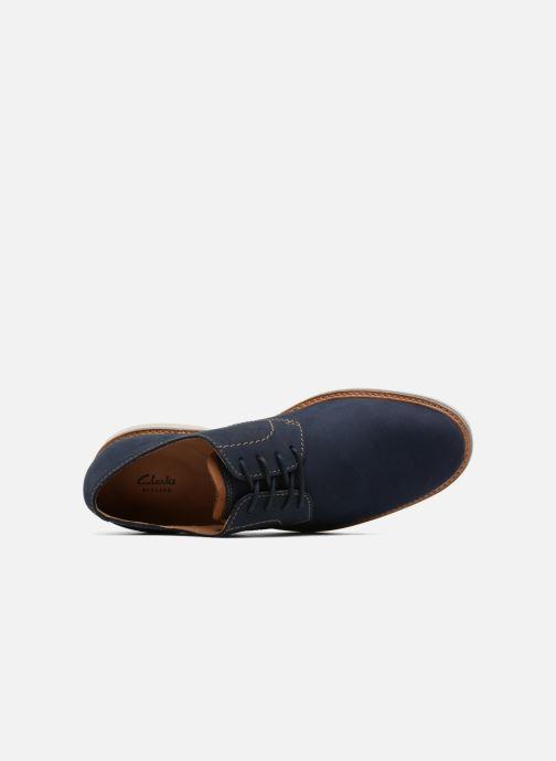 Chaussures à lacets Clarks Atticus Lace Bleu vue gauche