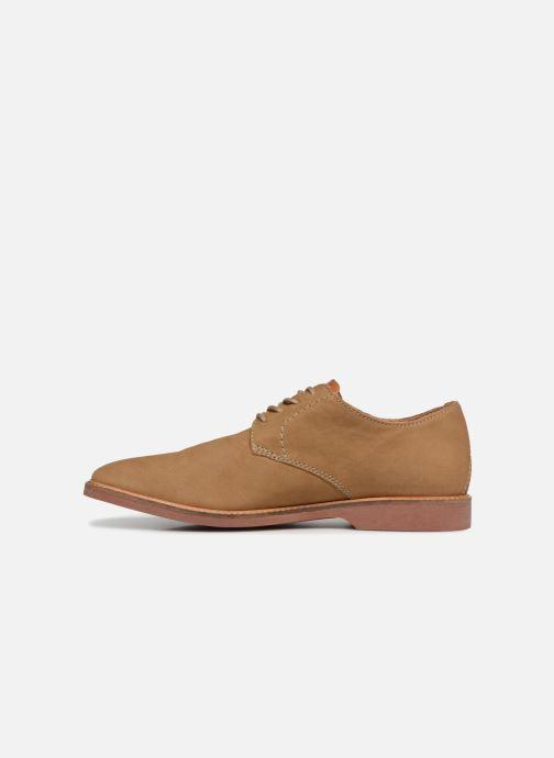 Zapatos con cordones Clarks Atticus Lace Beige vista de frente