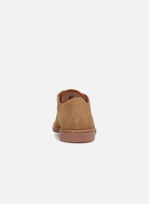 Zapatos con cordones Clarks Atticus Lace Beige vista lateral derecha