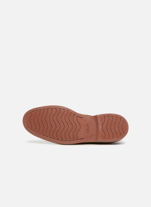Chaussures à lacets Clarks Atticus Lace Beige vue haut