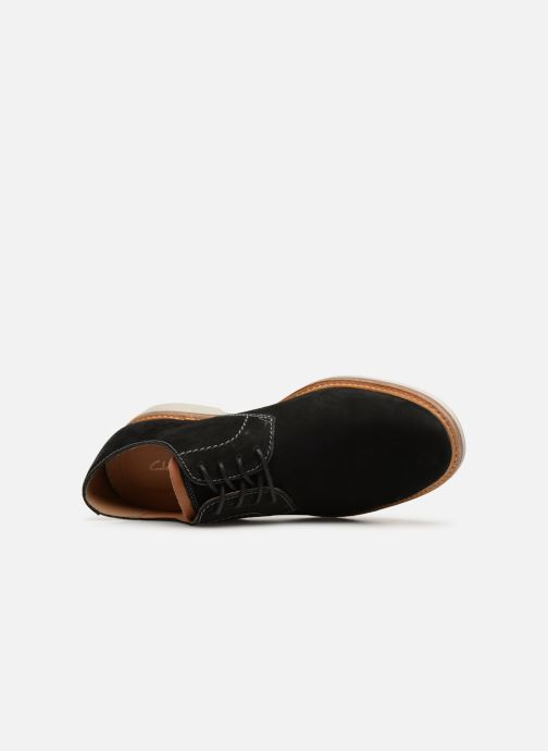 Lace-up shoes Clarks Atticus Lace Black view from the left