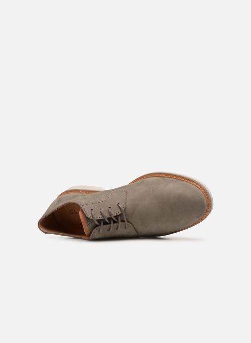 Zapatos con cordones Clarks Atticus Lace Gris vista lateral izquierda