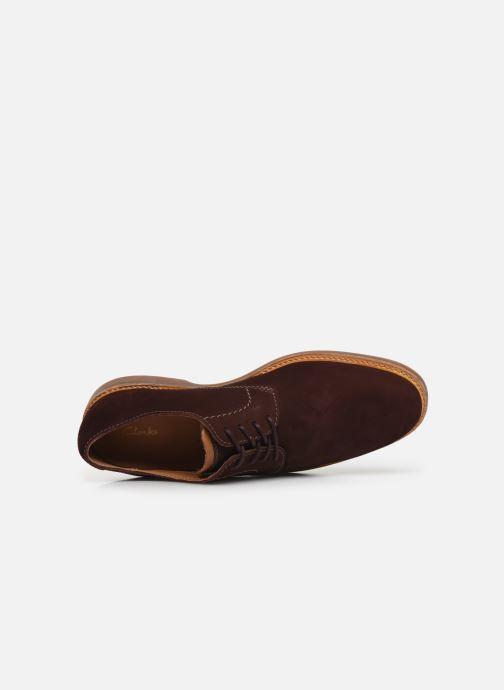 Chaussures à lacets Clarks Atticus Lace Bordeaux vue gauche