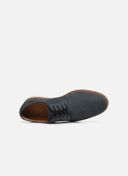 Zapatos con cordones Clarks Atticus Lace Azul vista lateral izquierda