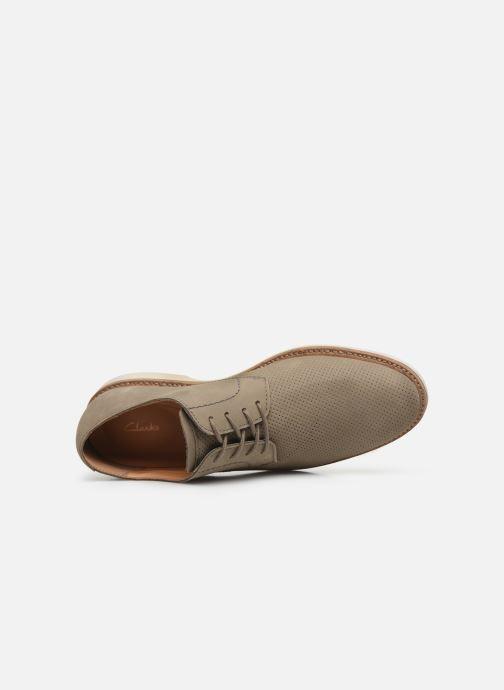 Zapatos con cordones Clarks Atticus Lace Verde vista lateral izquierda