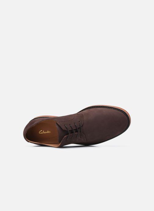 Zapatos con cordones Clarks Atticus Lace Marrón vista lateral izquierda
