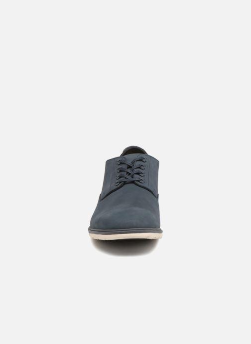 Schnürschuhe Clarks Glaston Walk blau schuhe getragen